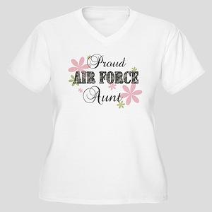 Air Force Aunt [fl camo] Women's Plus Size V-Neck